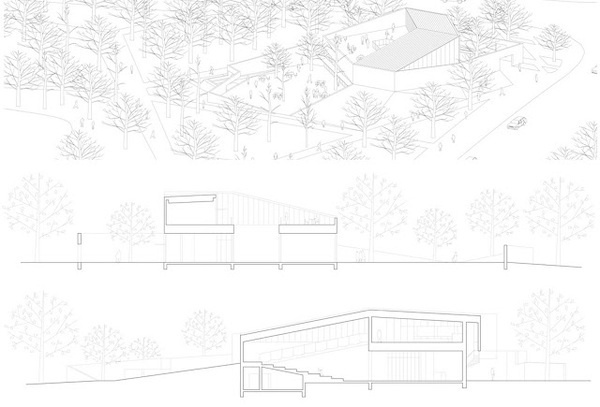 From East Bookstore / Scenic Architecture Office #architecture #drawing