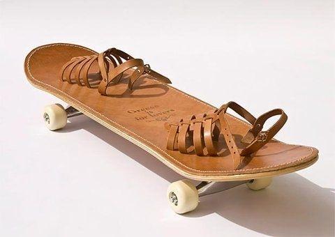 skateboard #wheels #shoes #straps #brown #skate #leather #skateboard