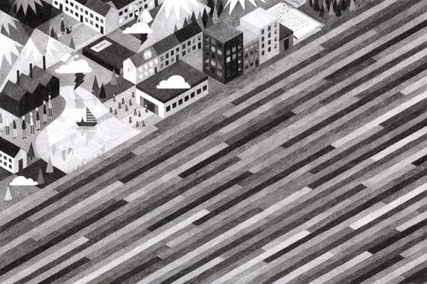 The Land of Decoration Eleni Kalorkoti #illustration #land #stripes #street
