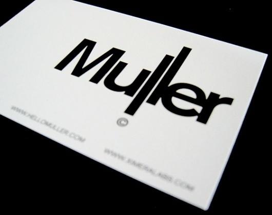Muller — Muller #logotype #tom #muller