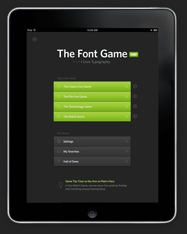 The Font Game for iPhone & iPod touch #ipad #app #minimal #font