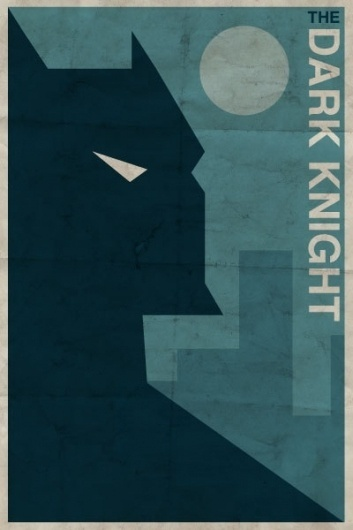 Vintage-Style DC Character Posters on the Behance Network #vintagestyle #batman #night #poster #dark