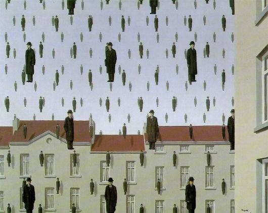 golconde.jpg 1005×800 pixels #painting #magritte #pattern #art