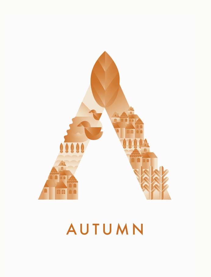 #autumn #typography #illustration #season