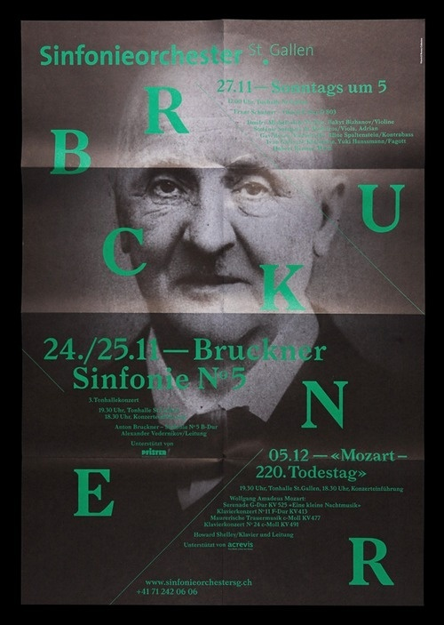 Typeverything.com Sinfonieorchester St.Gallen by Bureau Collective. #print #poster