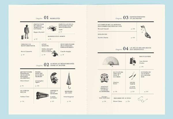 La Revue Mediterranée on Behance #of #table #contents
