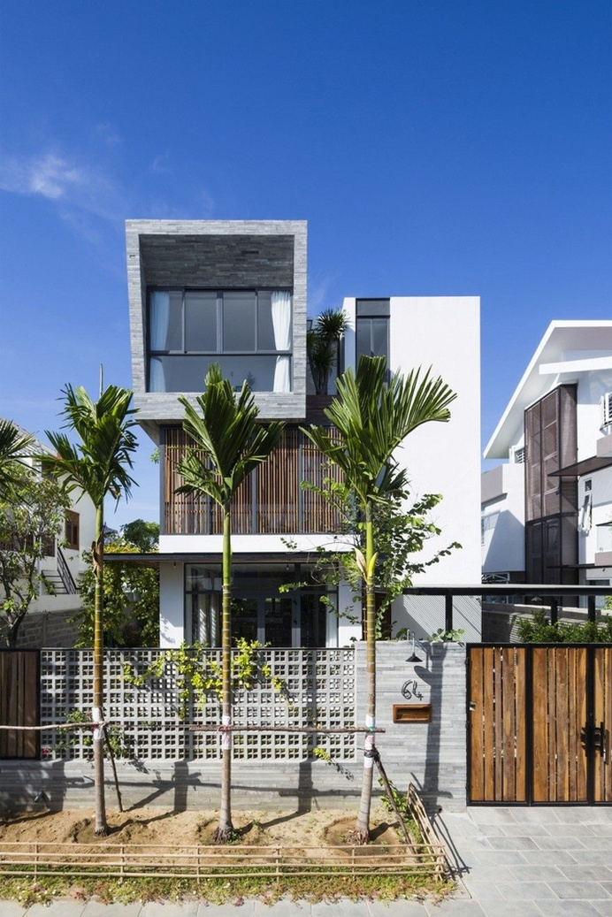 Modern Vertical Home Maximizes Light and Space in Nha Trang, Vietnam 1