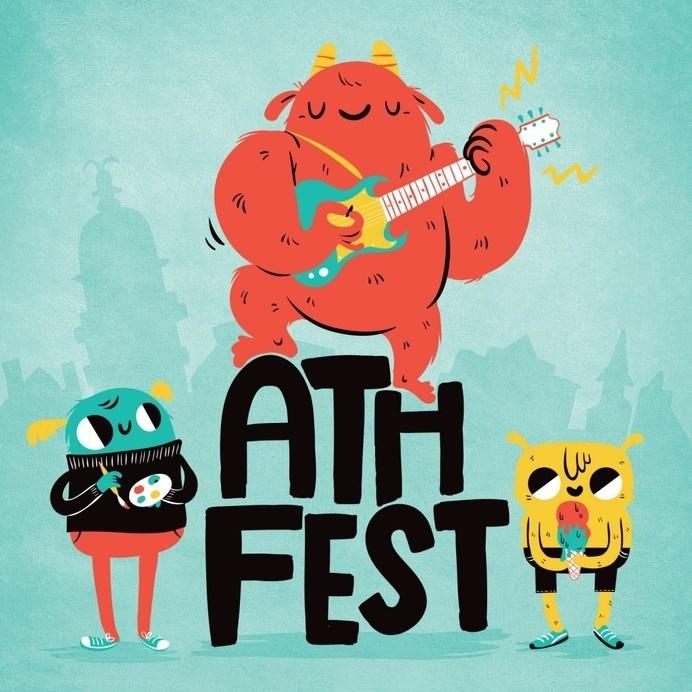 AthFest artwork, by Lauren Gregg #design #illustration #concept #art #character