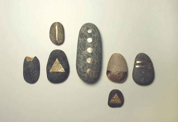 metallic paint #rocks