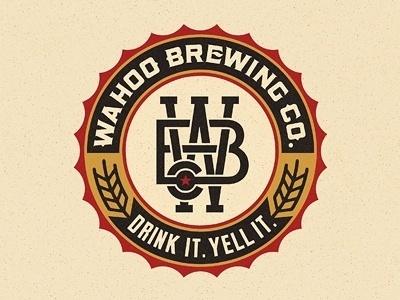 Dribbble - Wahoo Brew. Co. Final by Pavlov Visuals #beer #drink #brewing #yell #pavlov #logo #visuals