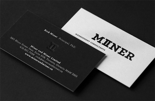 FPO: Miner & Miner Business Cards #business #design #brand #identity #logo #cards
