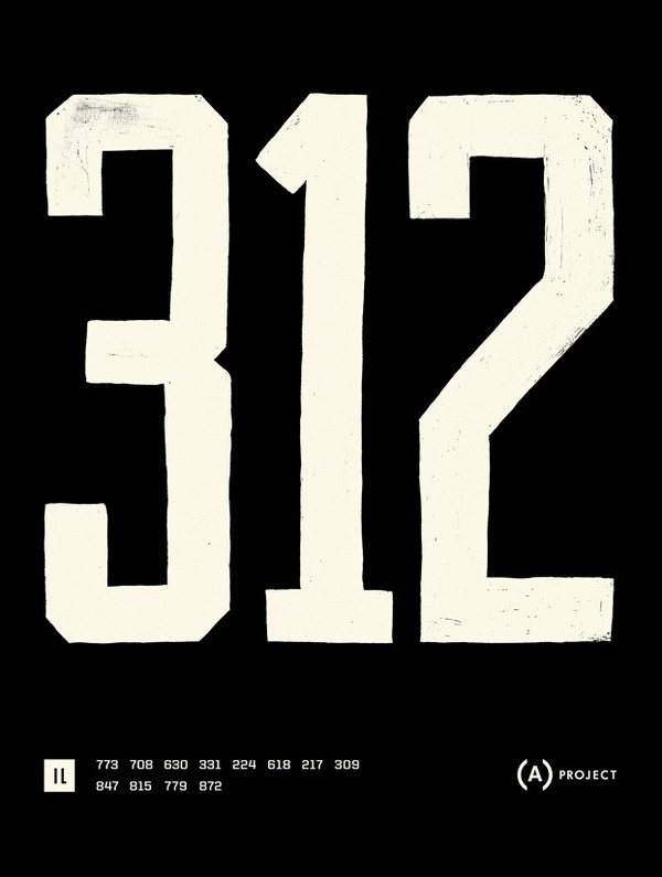 Area Code Project — Posters #numbers #mcquade #poster
