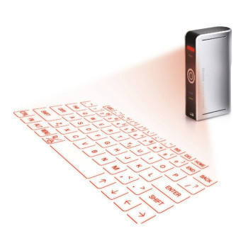 Reduce the strain of typing on your mobile device's miniature keyboard with this Projection Keyboard! #product #design #gadget #technology