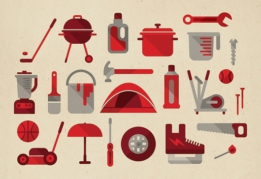 Canadian Tire Infographic on the Behance Network #red #tire #infographic #icons #muti #studio #canadian