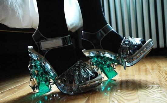 shoes #heels #candelier #prada