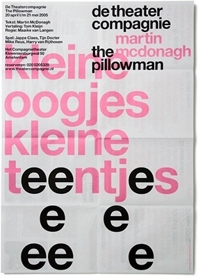 DTC / The Pillowman - Experimental Jetset #design #graphic #poster #typography