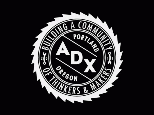 ADX Portland / Branding, Identity, & Signage Design / The Official Manufacturing Company #seal #logo #sawblade