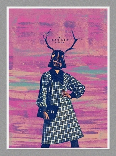Darth Fashion on the Behance Network #darth #sith #pink #wars #vader #star #poster #fashion
