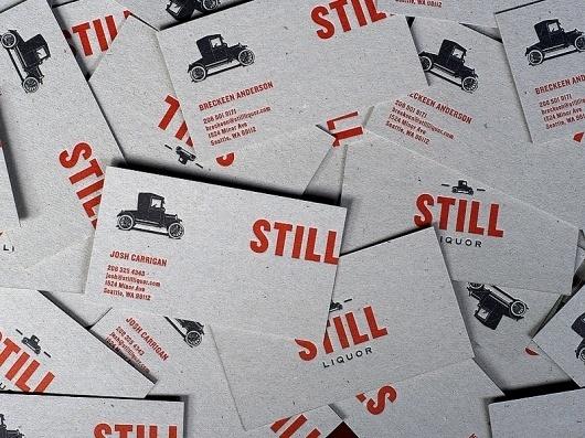 Still Liquor : Javas Lehn #business #branding #card #letterpress #logo