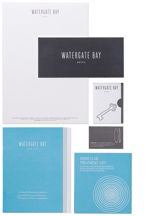 Creative Review Watergate Bay Hotel's new look #design #graphic #identity