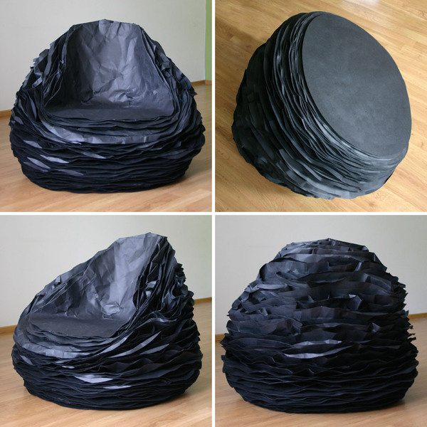 paper layers form the black paper 37 chair by vadim kibardin #chair