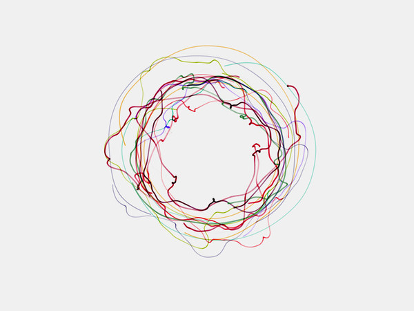 The Earth turns, but we don't feel it move but does it float #colourful #circle #spiral