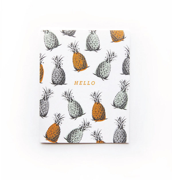 Pineapple hello card #tropical #you #stationary #card #thank #pineapple