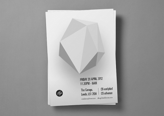 Archie McLeish | ▲ Graphics / Design / Illustration / Painting / & Beyond #abstract #hush #white #flyer #black #gray