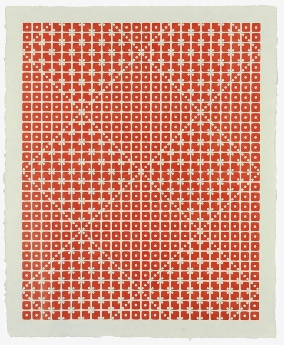 Letterpress Dice Print Alpha Equulei by Stukenborg on Etsy #dice #print #pattern