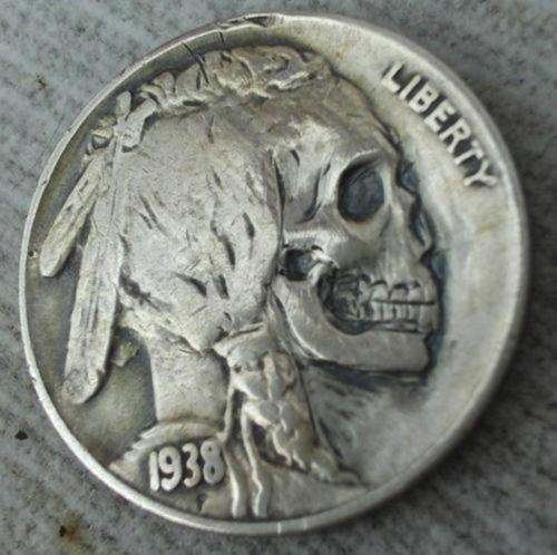 Designersgotoheaven.com - Â Skull Nickels. - Designers Go To Heaven #coin