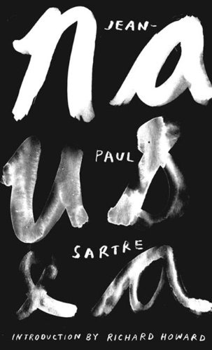 Nausea ($11.16) - Svpply #lettering #white #handwriting #book #black #cover #and #hand