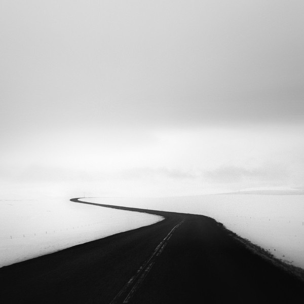Photograph ⁜ road to the north by Andy Lee on 500px #white #photo #& #snow #road #black #photography #winter