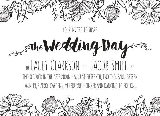 Daisy Chain - Engagement Invitations #paperlust #engagement #engagementinvitation #invitation #engagementcards #engagementinspiration #wedd