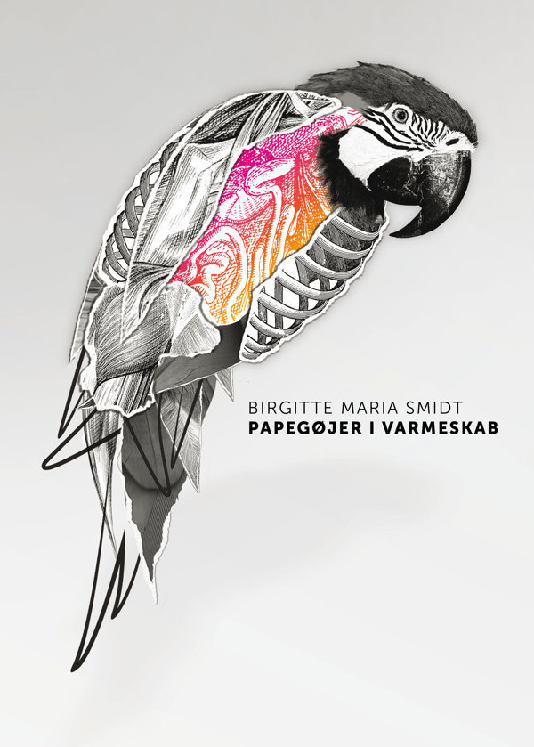 Papegøjer i varmeskab on Behance #parrot #cuts #novel #cover #paper