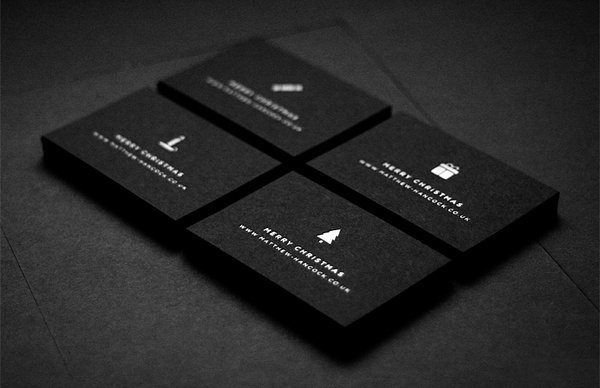 Matthew Hancock #hancock #swiss #white #business #gotham #card #black #christmas #matthew #minimal #and #cards