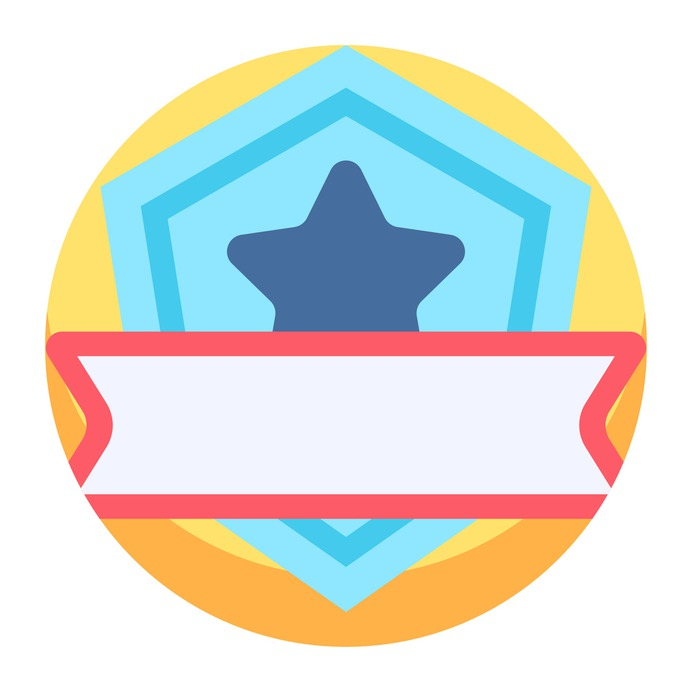 See more icon inspiration related to sports and competition, champion, insignia, emblem, badge, best, winner, award, medal and star on Flaticon.