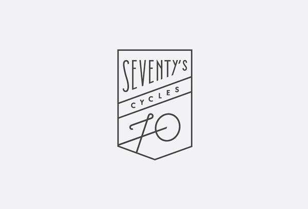 Seventy's cycles #logo #bike #logotype #identity