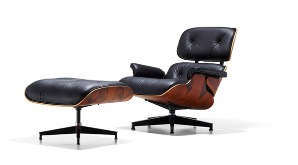 Eames Lounge and Ottoman Lounge Chair Home Herman Miller #modern #chair #black #wood #leather #eames