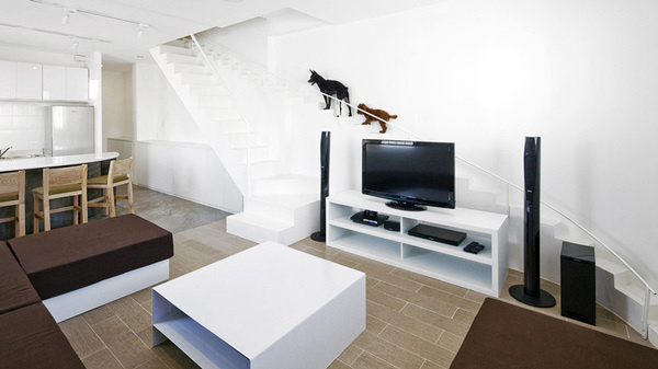 House Renovation in Vietnam by 07Beach #staircase #dogs
