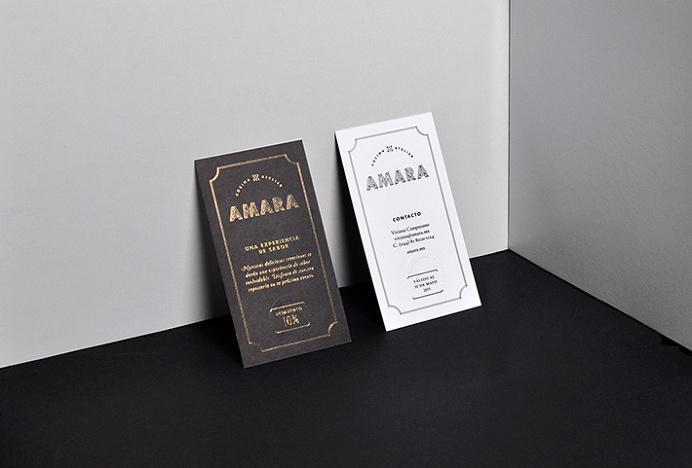 Amara by Firmalt #print #business card #graphic design