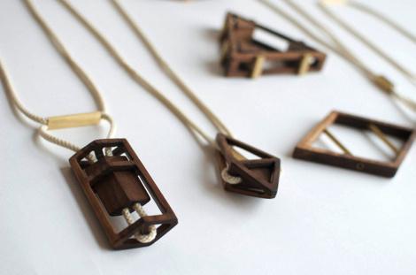 Sticks + Stones Simone Ferkul #wood #jewelry #necklace