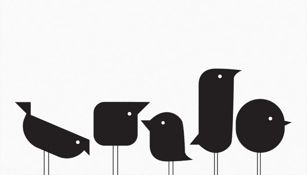 Janine Haddow #graphic #clean #birds #illustration #minimal