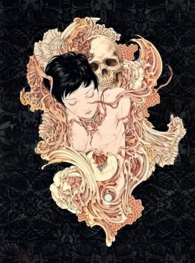 2headedsnake #illustration #death #girl