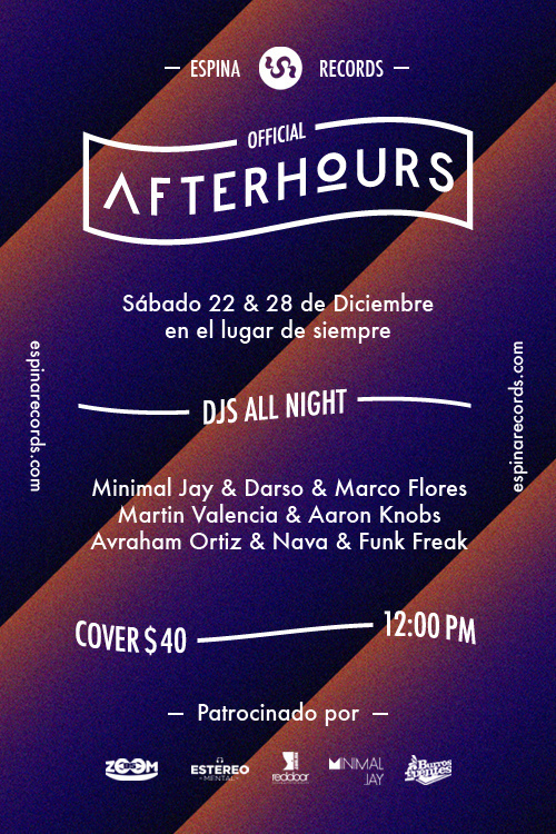 After Hours #sonora #djs #party #flyer #mxico #poster #music #electronic
