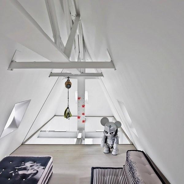 Artistic penthouse modern white loft #interior #artistic #penthouse #apartment #fun