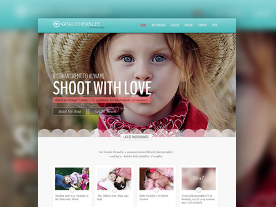ShootWithLove.com Redesign Photography Site #themes #design #website #layout #web