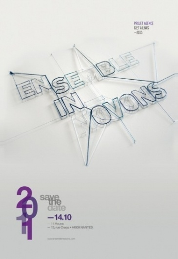 Ensemble innovons | The Fly Designers #poster #typography