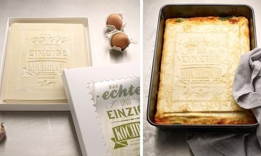 Primeiro livro de receitas comestível do mundo #book #food #typography