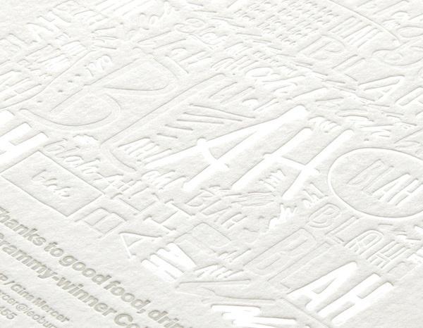 Description #blind #invite #emboss #print #letterpress #type