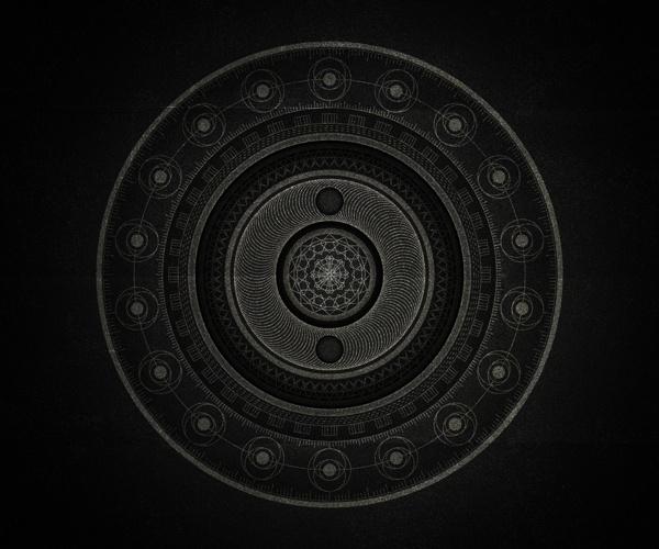 Inner space on Behance #beautiful #mandala #monochromatic #black
